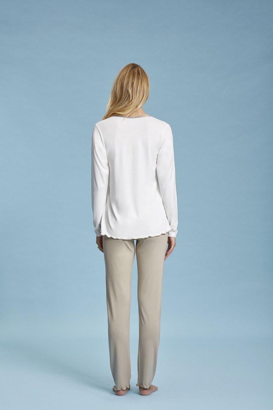 Pigiama donna manica lunga e pantalone lungo
