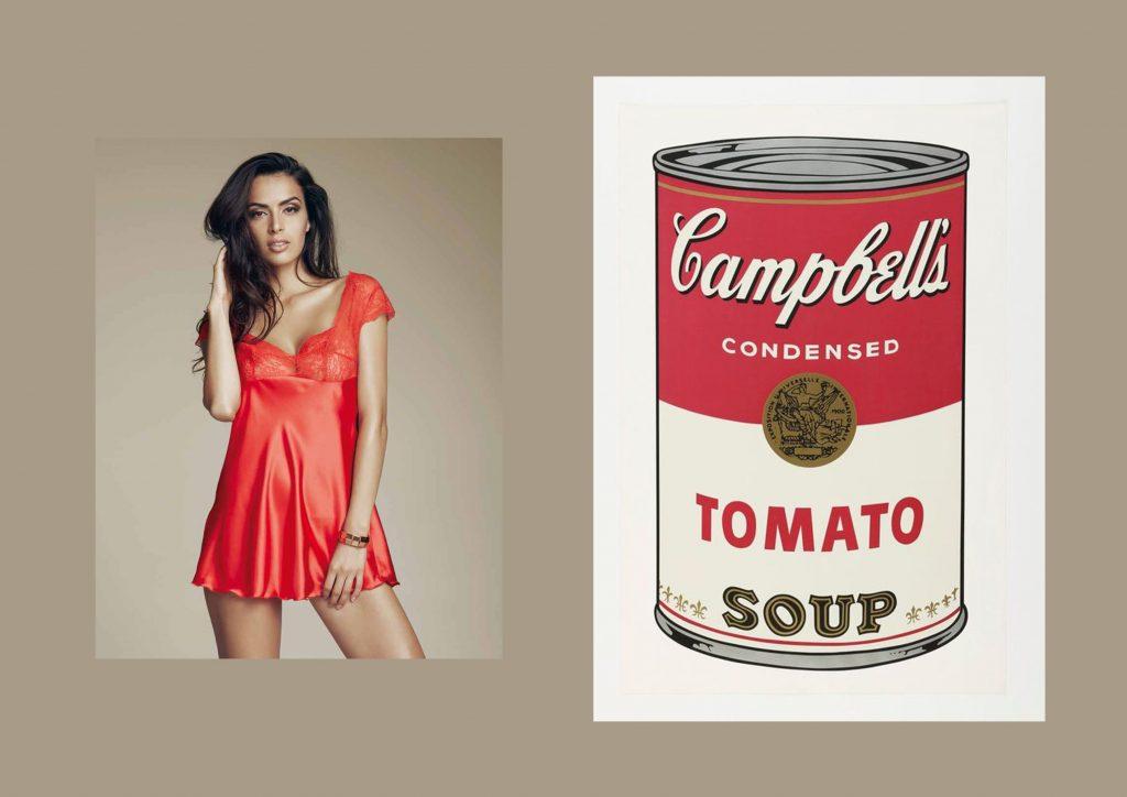 """Prima mostra di Andy Warhol con esposizione dell'opera """"Campbell's soup cans"""""""